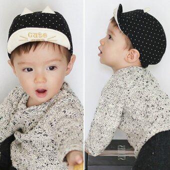 เด็กหนุ่มเด็กสาวหมวกกันแดด (สีดำ)