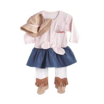 achute ชุด cowgirl สำหรับเด็กผู้หญิง ชุด+หมวก (สีชมพู)