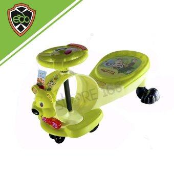 Ecoline รถดุ๊กดิ๊กขาไถ รูปหมี สีเขียว