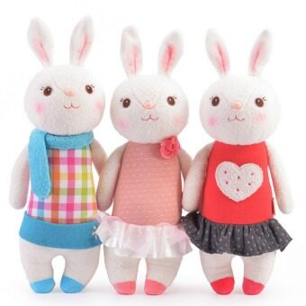 3ชิ้น/ของเล่นผ้าพลัฌเนื้อกระต่ายเยอะจ้าง Metoo ของขวัญตุ๊กตาเด็ก 8 สไตล์ 35ซมกระต่ายสัตว์สตัฟฟ์ Lamy ตุ๊กตากระต่าย