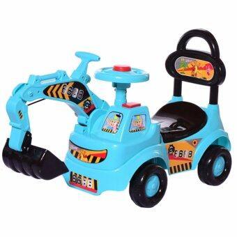 Crystal รถแม็คโครขุดดิน มีเสียงแตร รถเด็กนั่ง รถเด็กเล่น