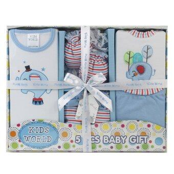 Tesco KIDS WORLD คิดส์ เวิลด์ ชุดของขวัญเด็ก 0-6 เดือน 5 ชิ้น - สีฟ้า