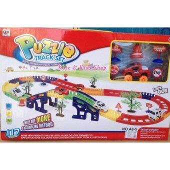 ชุดของเล่น ตัวต่อ รถบรรทุกวิ่งราง ขนาดใหญ่ (Puzzle Truck set)