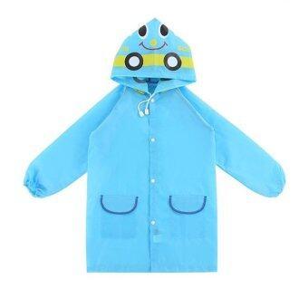 T-Toys เสื้อกันฝนเด็ก ลายรถสีฟ้า