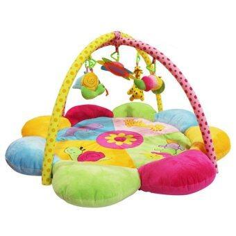 เพลยิมเสริมพัฒนาการเด็ก ที่นอนเกิจกรรม สีสันสดใส เสริมด้านสายตา แขน ขาให้ขยับตาม เนื้อเบาะหนานุ่ม play gym (ดอกไม้)