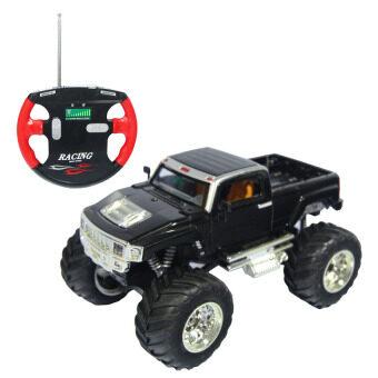 รถบังคับวิทยุ รถแข่งของเล่น รถบิ๊กฟุต บิ๊กฟุตจิ๊ว รถบังคับวิทยุ สีดำ 2008D-8
