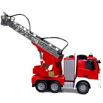 รถดับเพลิงบังคับร๊โมทวิทยุเสมือนจริง ฉีดน้ำได้ Large Size Full Function RC Fire Truck