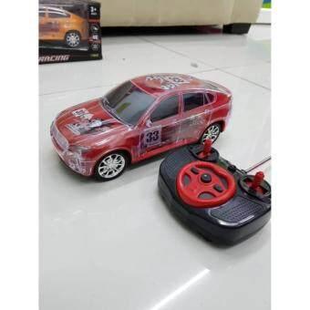 รถแข่งบังคับวิทยุ RC Super Racing Car มีไฟ Led ในตัว ขับ4ล้อ ความถี่ 27MHZ RC-2402 SIZE M