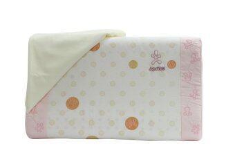 Aprica หมอนยางพาราระบายอากาศ รุ่น Infant Latex Pillow Long (สีชมพู)