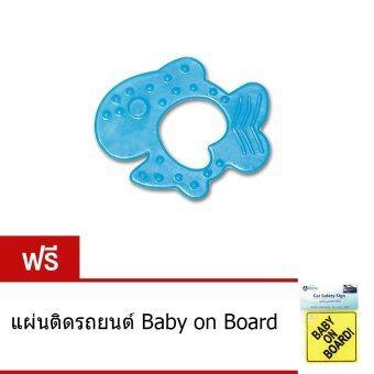Alpha Baby ยางกัดรูปปลา เซ็ท 6 ชิ้น - ฟ้า (แถมฟรี แผ่นติดรถยนต์ Baby on Board)