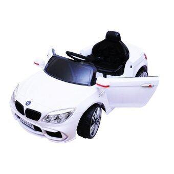 BMW Series 1 Convertible 2 Motors รถแบตเตอรี่เด็กนั่ง LN5618 ( White )