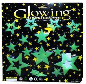 แผ่นติดผนังหรือเพดานเรืองแสงสำหรับเด็ก ดาวจรัสแสงในจักวาล Glow in the Dark sticker for kids Shinny Star in Universe