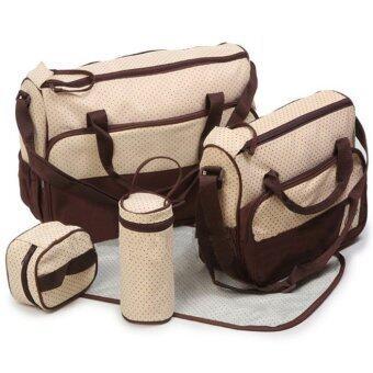 2Kids กระเป๋าสัมภาระคุณแม่ เซ็ท 5 ชิ้น (สีน้ำตาล)