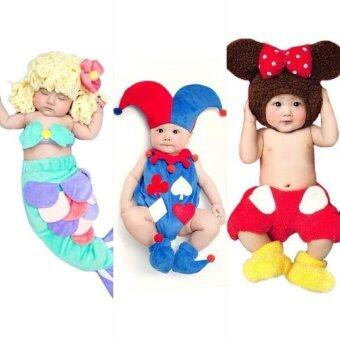 BabyGaga ชุดแฟนซีเด็กทารกมิกกี้-เงือกน้อย-โจ๊กเกอร์ Mickey & Little Mermaid & Joker Fancy Costume