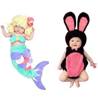 BabyGaga ชุดแฟนซีเด็กทารกเงือกน้อย+กระต่าย Little Mermaid & Bunny Fancy Costume