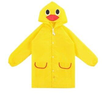 T-Toys เสื้อกันฝนเด็ก ลายเป็ดสีเหลือง