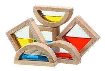 PlanToys ของเล่นไม้ WATER BLOCKS ชุดบล็อคน้ำหลากสี