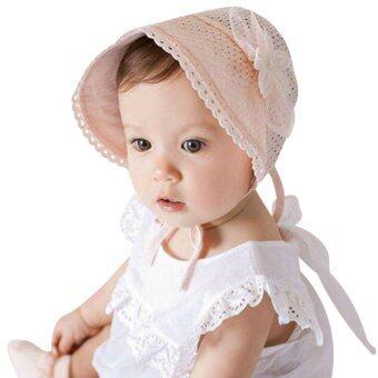 เด็กสาวสวมหมวกทรงหมวกใหม่ฝาลายลูกไม้ (สีชมพู)