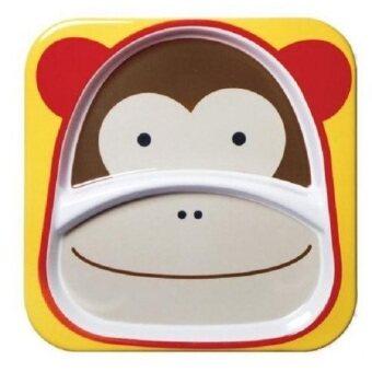 2Kids จานสำหรับใส่อาหาร 2 ช่อง - ลิง