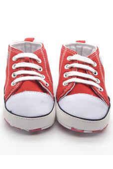 Aukey Prewalker Canvas Sneakers Antiskid Shoes 3—18M (Red)