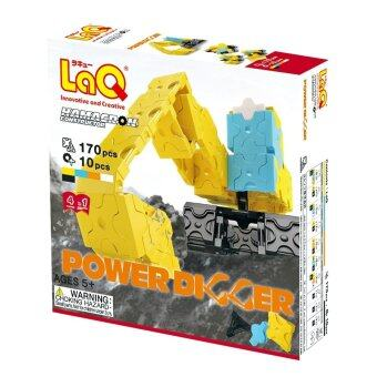 LaQ Hamacron Constructor Power Digger สำหรับเด็กผู้ชาย (กล่องสีเหลือง)