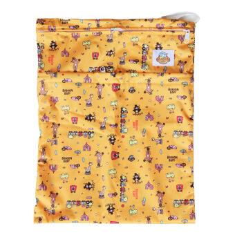 Baboon baby กระเป๋ากันน้ำเก็บกลิ่น 2 ช่องซิป สำหรับพกพากางเกงผ้าอ้อมและแผ่นซับ (สีส้ม)
