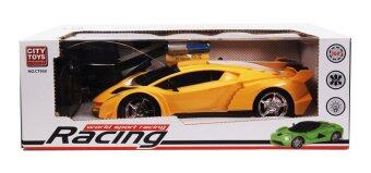 RC World Sport Racing Toy รถแข่ง ของเล่น ทรงรถสปอร์ต บังคับวิทยุ (สีเหลือง)