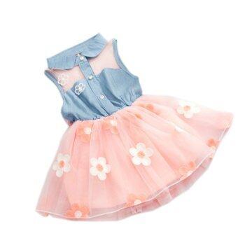 Baby Girl Summer Fashion Dress (Pink) - Intl