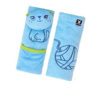 BENBATสายรองเบลล์เด็ก 1-4 ปี ลายแมว - สีฟ้า 2 ชิ้น