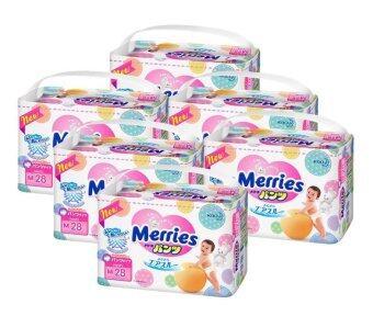 ขายยกลัง! Merries ผ้าอ้อมเมอร์รี่ส์ชนิดกางเกง ไซส์ M 28ชิ้น x 6 แพค (รวม 168 ชิ้น) (image 1)