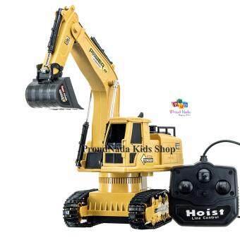 ProudNada Toys ของเล่นเด็กรถแม็คโครบังคับสาย XIE MING TRUCK 360 องศา XM-6811