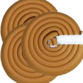 MoMoLand โฟมยางกันกระแทกสำหรับเด็ก ความยาว 2 เมตร Soft Edge Cushion Strip รุ่น FKT-3101-LIGHTBROWN (ชุดเชต 3 ม้วน)