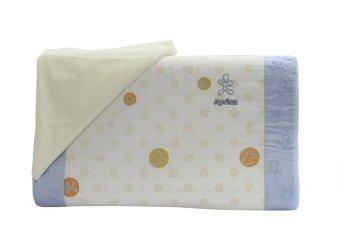 Aprica หมอนยางพาราระบายอากาศ รุ่น Infant Latex Pillow Long (สีฟ้า)