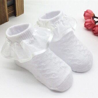 Jiayiqi 1 คู่ถุงเท้าเด็กอ่อนน่ารักเด็กสาวฝ้ายเดินลูกไม้ถุงเท้าถุงเท้า Bowknots เจ้าหญิงแต่งตัวสำหรับ 0 ที่ 6เดือน