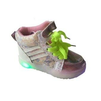 achute รองเท้ามีไฟ (สีชมพู )