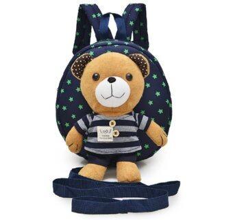 เป้จูงเด็ก กระเป๋าเด็ก สายจูงเด็ก กระเป๋าเป้เด็ก ลายหมี (สีน้ำเงิน)
