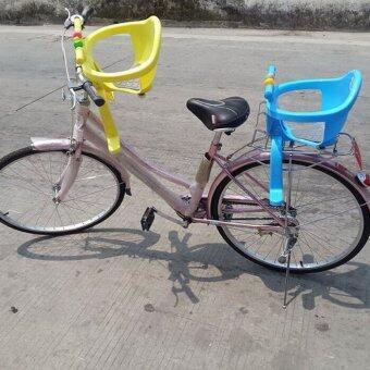 ThaiTrendy เก้าอี้นั่งเสริมจักรยาน สำหรับเด็ก มาพร้อมของเล่นด้านหน้า สีม่วง (image 2)