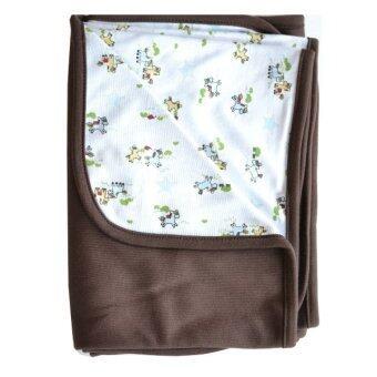 Bandekd ผ้าห่มเด็ก สีน้ำตาล 2 ชั้น ลายม้า
