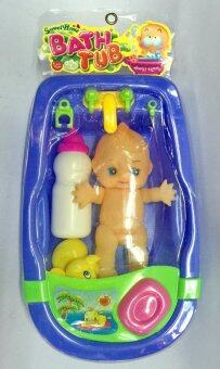 Worktoys ของเล่นเด็ก ชุดตุ๊กตาอาบน้ำ อ่างจำลองอาบน้ำเด็ก เล็ก (สีฟ้า)