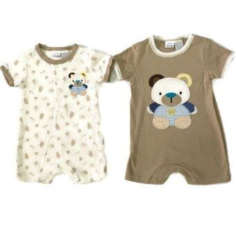 LITTLE BABY M เสื้อผ้าเด็กเล็ก ชุดหมีแพ็คคู่ ลายหมีสีน้ำตาล