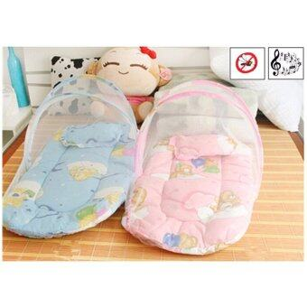 Baby Happy ที่นอนพกพาพร้อมมุ้งครอบ รุ่นมีเสียงดนตรี