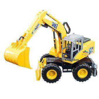 ProudNada Toys ของเล่นเด็กรถแม็คโครล้อโตเบรฟแมน Brave man Machinery YFC818