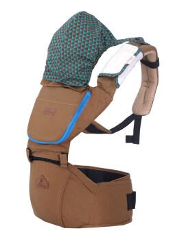 Aiebao เป้อุ้มเด็ก ที่นั่งคาดเอว hipseat+carrier รุ่น Josh (Brown) image