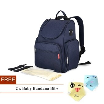 Simplicity Multi-function Baby Diaper Bag Mummy Backpack(Navy Blue)