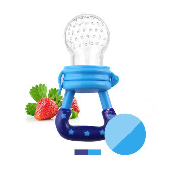 1 Pcs Baby Pacifier Fruits And Vegetables Nipple Blue (Intl) - Intl