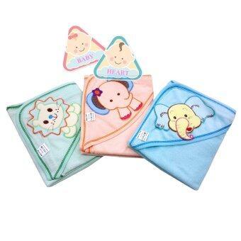 Baby heart ผ้าห่อตัวเด็กทำจากผ้าขนหนู หนานุ่ม 100% cotton