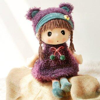 ของเล่นผ้าพลัฌน่ารัก สาวน้อย 38.1ซมดอกไม้ตุ๊กตาแต่งตัวตุ๊กตาผ้าพลัฌหุ่นสำหรับเด็กเด็กเด็ก ของขวัญวันเกิดของขวัญวันคริสต์มาส/ติ สีน้ำตาล