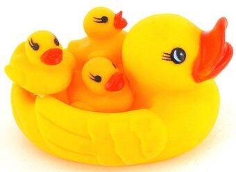 Funny Toys ครอบครัวเป็ดลอยน้ำ - สีเหลือง