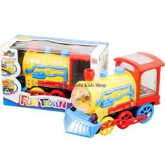 ProudNada Toys ของเล่นเด็กหัวรถไฟเล่นน้ำพุ(สีเหลือง) FUN TRAIN NO.3980D