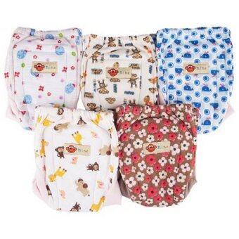 Nine กางเกงผ้าอ้อมซักได้ ขาผ้ายืด รุ่น N3-5A (แบบ A) Pack 5